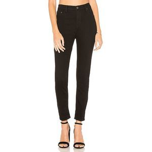 Free People skinny jeans jeggings black mid rise